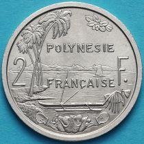 Французская Полинезия 2 франка 1965 год. Без обращения.