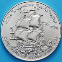 Самоа и Сизифо 1 тала 1972 год. 250 лет открытию Самоа.