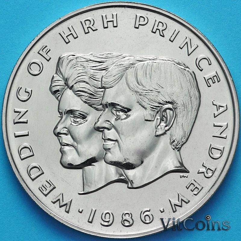 Монета Самоа и Сизифо 1 тала 1986 год. Свадьба принца Эндрю и Сары Фергюсон