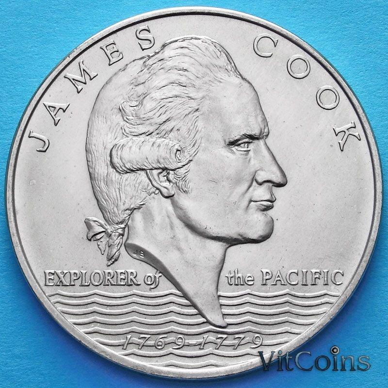 Монета Самоа и Сизифо 1 тала 1970 год. Джеймс Кук