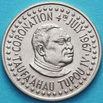 Тонга 20 сенити 1967 год. Коронация.