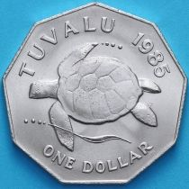 Тувалу 1 доллар 1985 год. Черепаха.