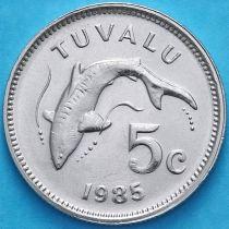 Тувалу 5 центов 1985 год. Тигровая акула