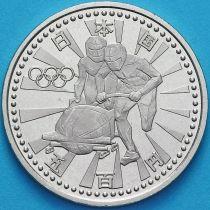 Япония 500 йен 1998 год. Олимпиада, бобслей.