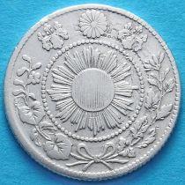 Япония 10 сен 1870 год. Серебро.