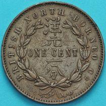 Британское Северное Борнео 1 цент 1887 год.