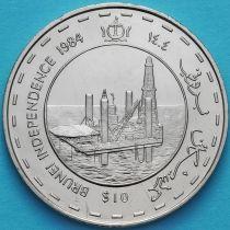 Бруней 10 долларов 1984 год. День независимости.
