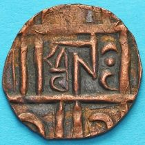 Бутан 1/2 рупии 1835-1910 год. km8.1а