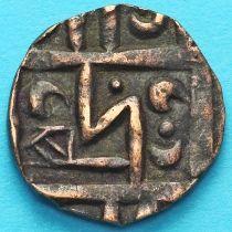 Бутан 1/2 рупии 1820-1840 год. km3.3