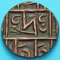Бутан 1/2 рупии 1820-1835 год.  km3