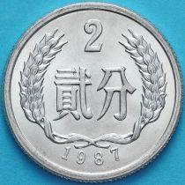 Китай 2 фыня 1987 год.
