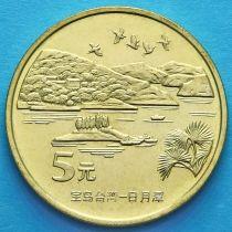 Китай 5 юаней 2004 год. Озеро Солнца и Луны