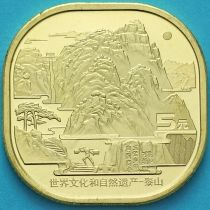Китай 5 юаней 2019 год. Гора Тайшань