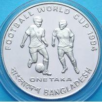 Бангладеш 1 така 1993 год. Футбол. Серебро