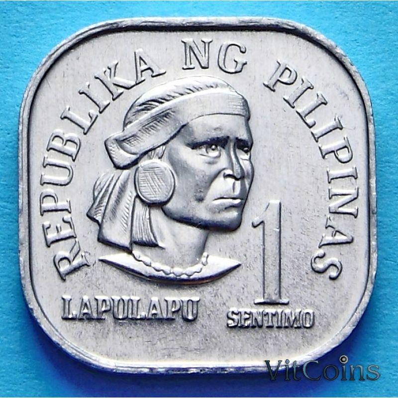 Монета Филиппины 1 сентимо 1975-1978 год.