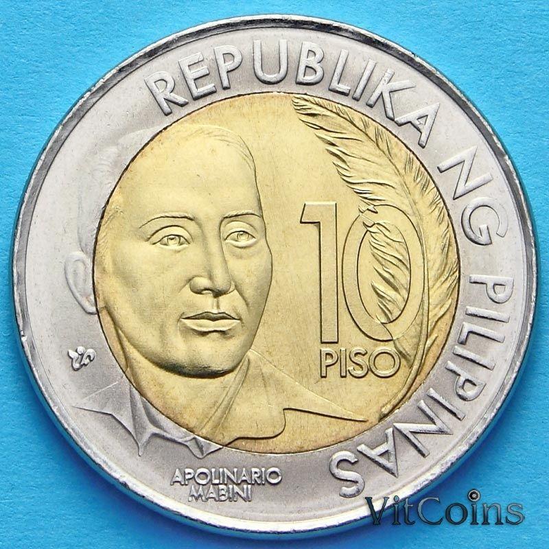 Монета Филиппины 10 песо 2014 год. 150 лет со дня рождения Аполинарио Мабини