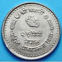 Непал 2 рупии 1982 год. ФАО