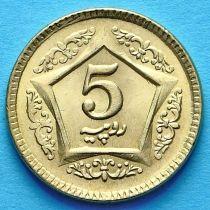 Пакистан 5 рупий 2015 год.