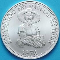 Филиппины 25 песо 1976 год. ФАО. Серебро.