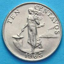 Филиппины 10 сентаво 1963 год.