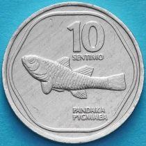 Филиппины 10 сентимо 1989-1990 год.