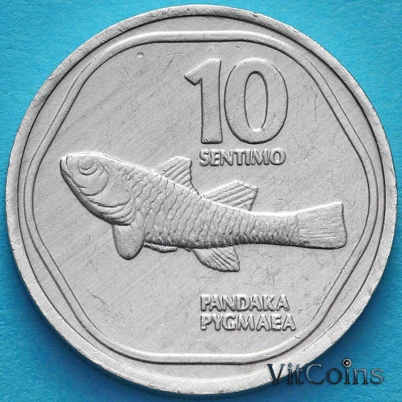Монета Филиппины 10 сентимо 1989-1990 год. Пандака карликовая.