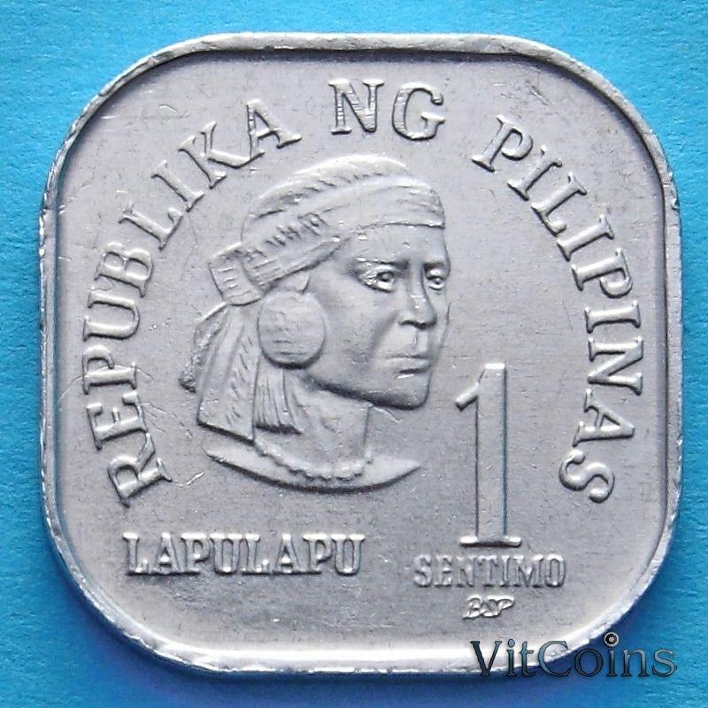 Монета Филиппины 1 сентимо 1979 год.