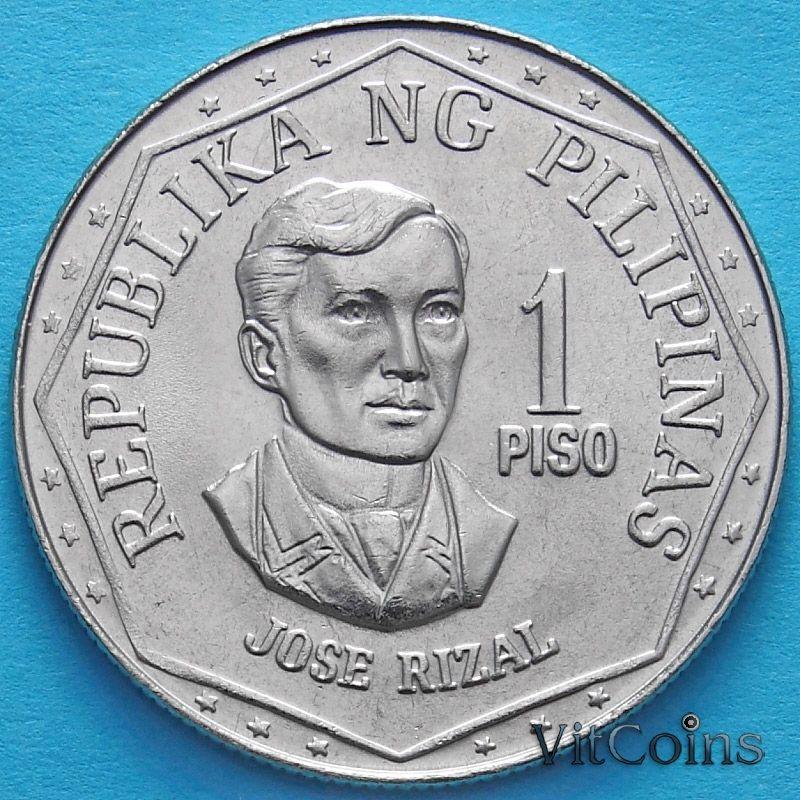 Монета Филиппины 1 песо 1978 год.