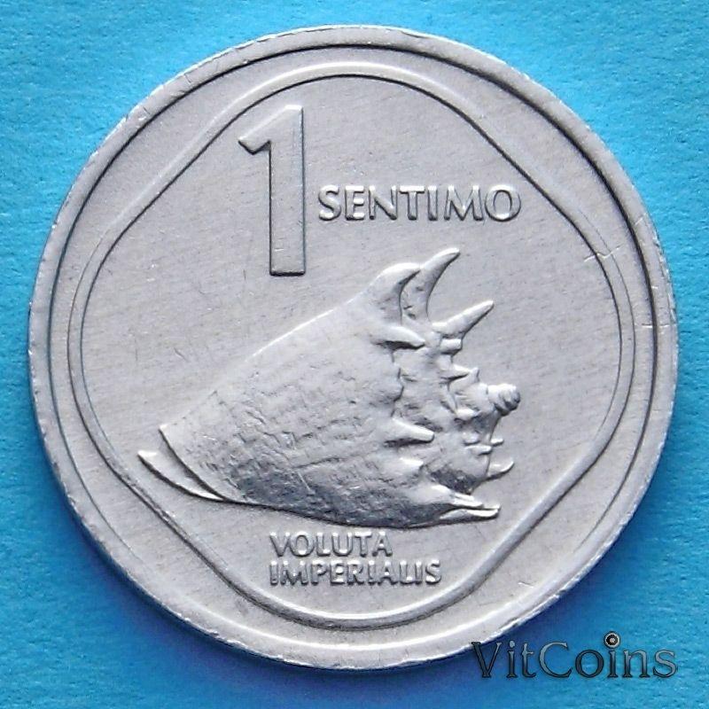 Монета Филиппины 1 сентимо 1987-1988 год.