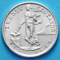 Филиппины 20 сентаво 1944 год. Серебро.