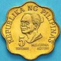 Филиппины 5 сентимо 1975 год.