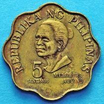 Филиппины 5 сентимо 1977-1978 год.