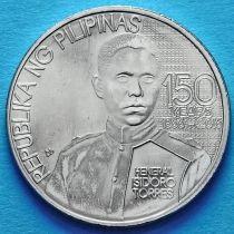 Филиппины 1 песо 2016 год. Генерал Исидро Торрес.