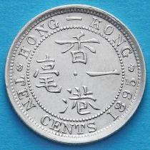 Гонконг 10 центов 1895 год. Королева Виктория.