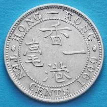 Гонконг 10 центов 1900 год. Королева Виктория.