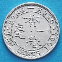 Гонконг 10 центов 1901 год. Королева Виктория.