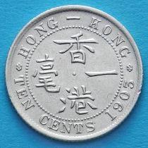 Гонконг 10 центов 1903 год. Король Эдуард VII.
