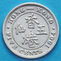 Гонконг 5 центов 1904 год. Эдуард VII.
