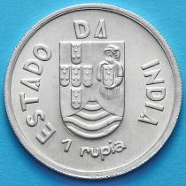 Португальская Индия 1 рупия 1935 год. Серебро.