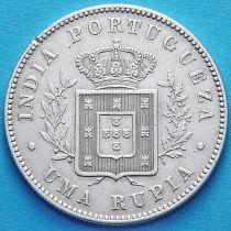 Португальская Индия 1 рупия 1882 год. Серебро. №2.