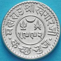 Индия, княжество Кач, 1 кори 1935 год. VS1992. Серебро.