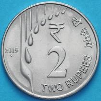 Индия 2 рупии 2019 год. Новый тип.