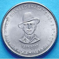 Индия 5 рупий 2011 год. Шахид Бхагат Сингх