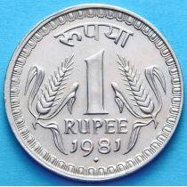 Индия 1 рупия 1980-1982 год. №1