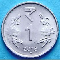 Индия 1 рупия 2011-2016 год. Цветки лотоса.