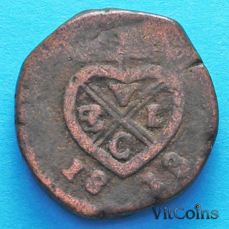 Монета Индии 1 пайс 1813 год, президентство Бомбей.