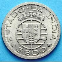 Португальская Индия 3 эскудо 1958 год.