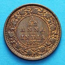 Британская Индия 1/12 анны 1932 год.