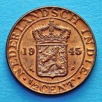 Нидерландская  Индия 1/2 цента 1945 год.