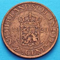 Нидерландская Индия 2 1/2 цента 1920 год.